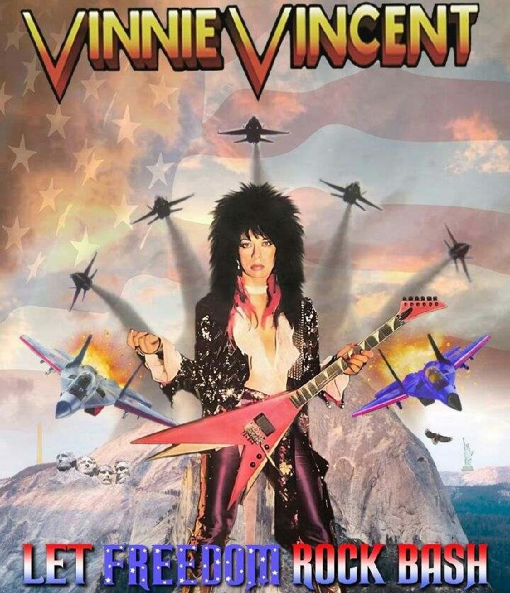 Vinnie Vincent Is At It Again! Celebrate Life, Liberty and Freedom With Vinnie Live For Only $500